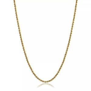"""Real 30"""" Solid Gold Rope Chain Necklace Brand New"""